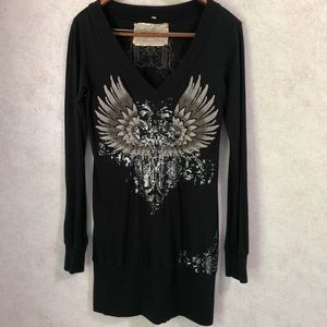 Johnny Was for Love and Liberty Embroidered Tunic